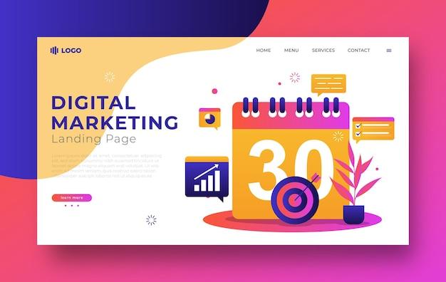 Koncepcja marketingu cyfrowego dla strony docelowej
