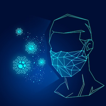 Koncepcja maski medycznej koronawirusa