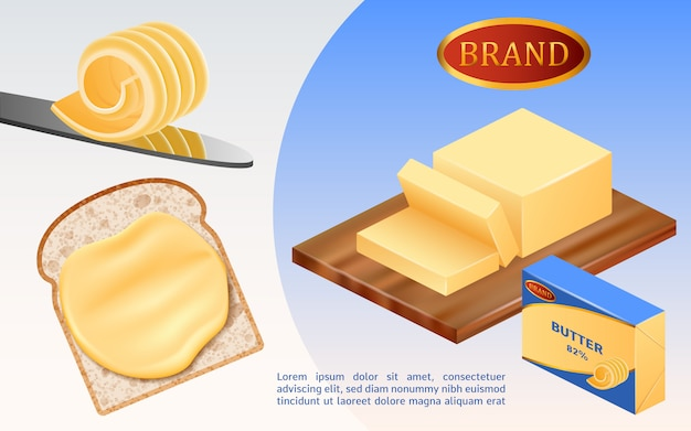 Koncepcja masła mleka