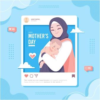 Koncepcja mediów społecznościowych szczęśliwego dnia matki