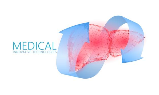 Koncepcja medyczna terapii rekonstrukcji wątroby ludzkiej.