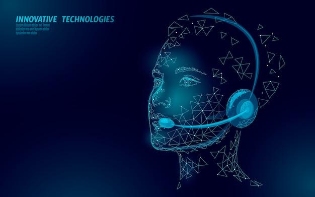 Koncepcja menedżera obsługi klienta kobieta. infolinia centrum obsługi słuchawek ai. informacje pomocy online konsultanta ds. obsługi klienta. dziewczyna z zestawem słuchawkowym