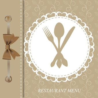 Koncepcja menu restauracji.