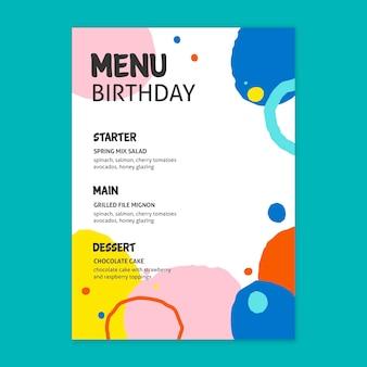 Koncepcja menu urodziny