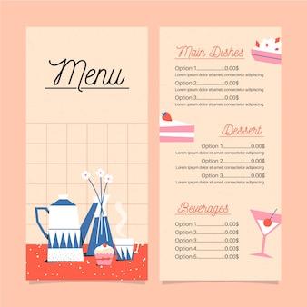 Koncepcja menu w płaskiej konstrukcji