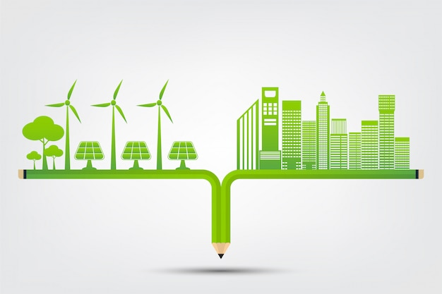 Koncepcja miasta ekologii i środowiska z ekologicznymi pomysłami