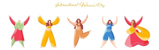Koncepcja międzynarodowego dnia kobiet.