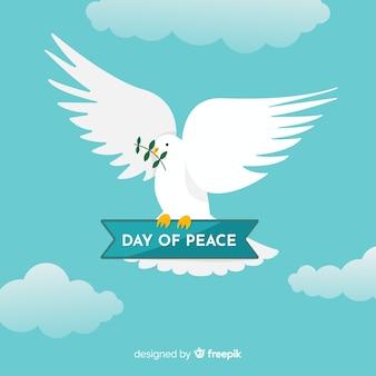 Koncepcja międzynarodowego dnia pokoju z białą dove