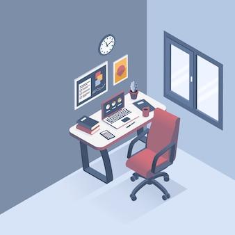 Koncepcja miejsca pracy w biurze.