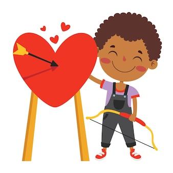 Koncepcja miłości z postacią z kreskówki