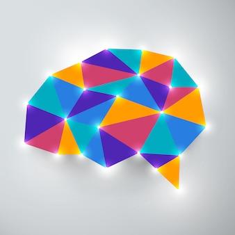 Koncepcja myślenia analizy mózgu. ilustracje.
