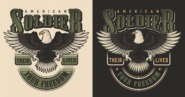 Koncepcja nadruku wojskowego t-shirt