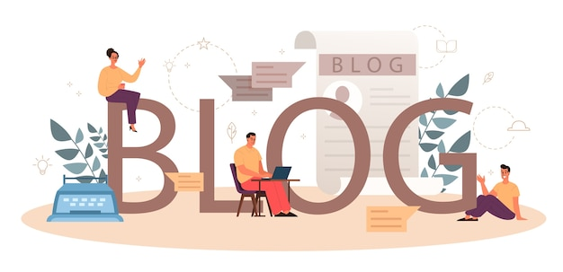 Koncepcja nagłówka typograficznego blogu