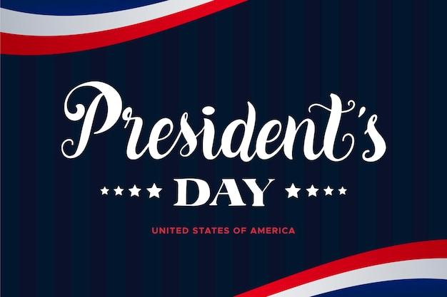 Koncepcja napis na dzień prezydenta