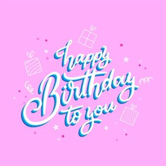 Koncepcja napis urodziny