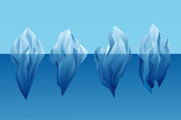 Koncepcja natury kolekcji góry lodowej