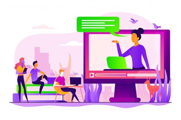 Koncepcja nauczania online.