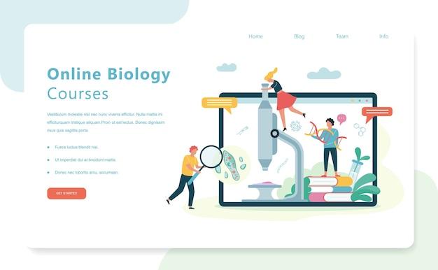 Koncepcja nauki biologii. ludzie z mikroskopem