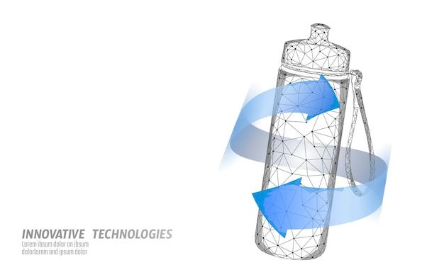 Koncepcja nawadniania sportowej butelki wody. ochrona zdrowia przed odwodnieniem izotoniczny napój elektrolitowy. ilustracja sportowca fitness.
