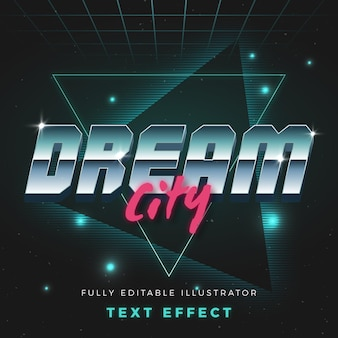 Koncepcja neon efekt tekstu