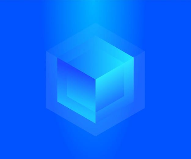 Koncepcja neonowego bloku do przechowywania dużych danych. streszczenie technologia tło