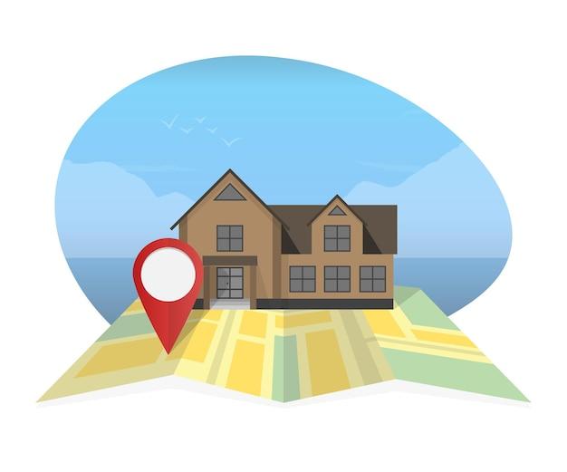Koncepcja nieruchomości z domu na sprzedaż i wynajem ilustracji wektorowych symboli