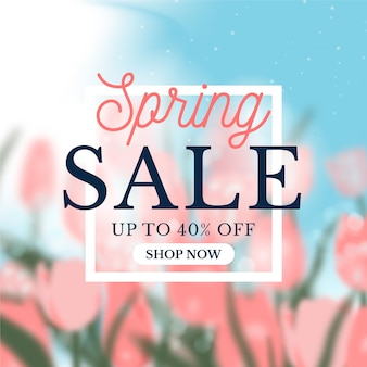 Koncepcja niewyraźne wiosenna oferta sprzedaży