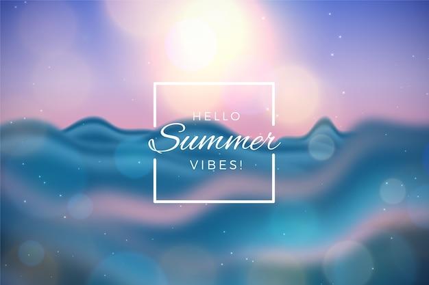 Koncepcja niewyraźne witaj lato