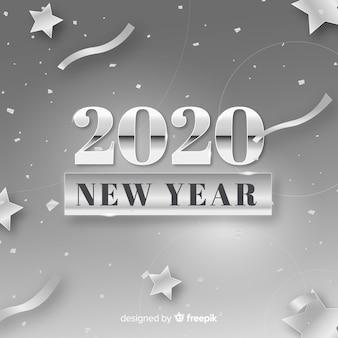 Koncepcja nowego roku ze srebrnym wzorem
