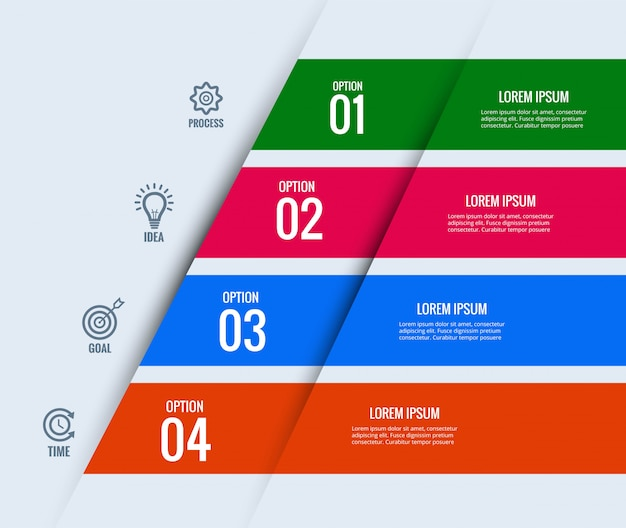 Koncepcja nowoczesnego biznesu infografiki