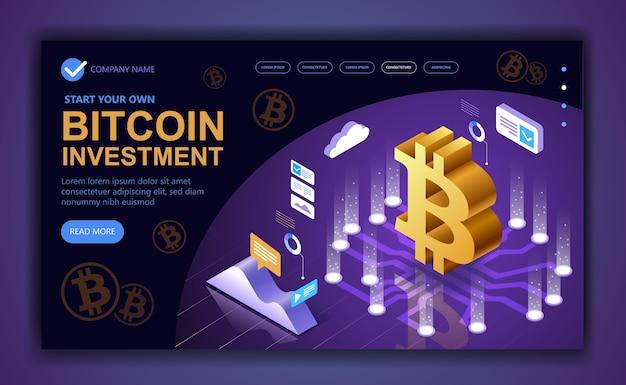 Koncepcja nowoczesnego biznesu poświęconego bitcoinom