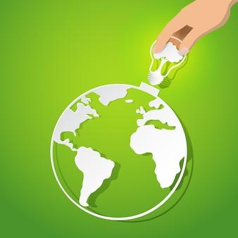 Koncepcja ochrony przyrody i eko energii.
