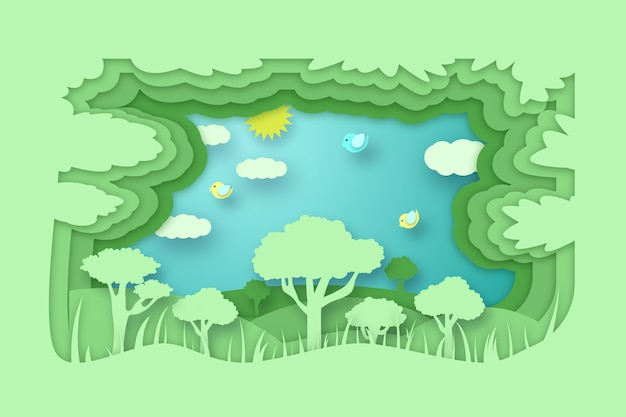 Koncepcja ochrony środowiska w stylu papieru