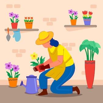 Koncepcja ogrodnictwa w domu