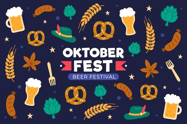 Koncepcja oktoberfest w płaskiej konstrukcji