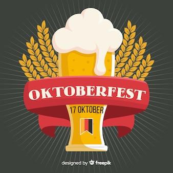 Koncepcja oktoberfest z płaskim tle