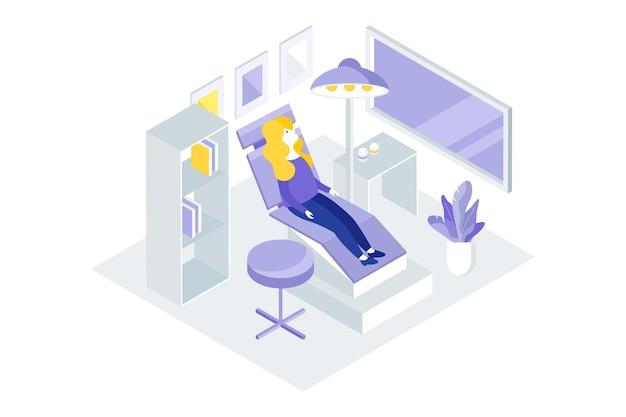 Koncepcja Opieki Stomatologicznej W Stylu Izometrycznym Darmowych Wektorów