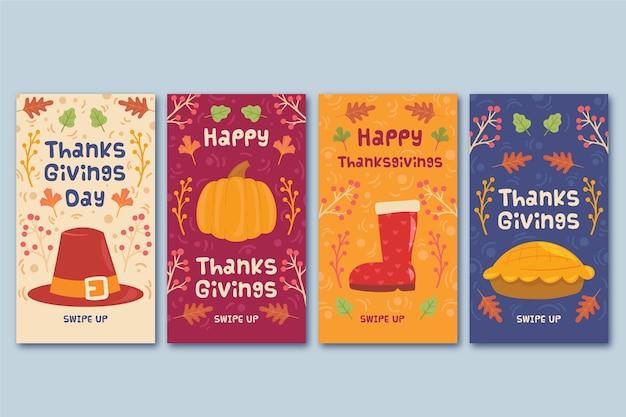 Koncepcja opowiadań instagram święto dziękczynienia