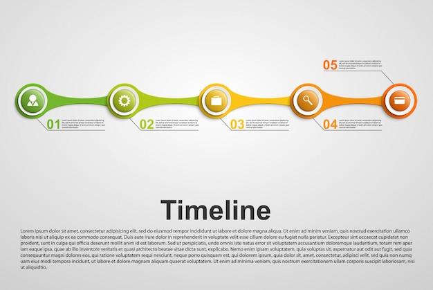 Koncepcja osi czasu infografiki.