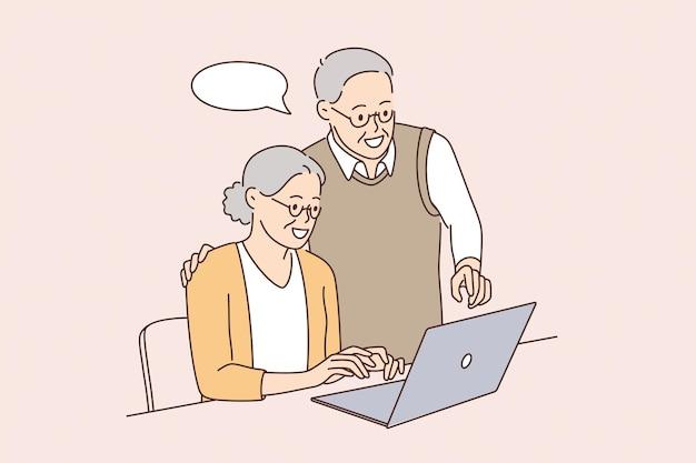 Koncepcja osób starszych i technologii