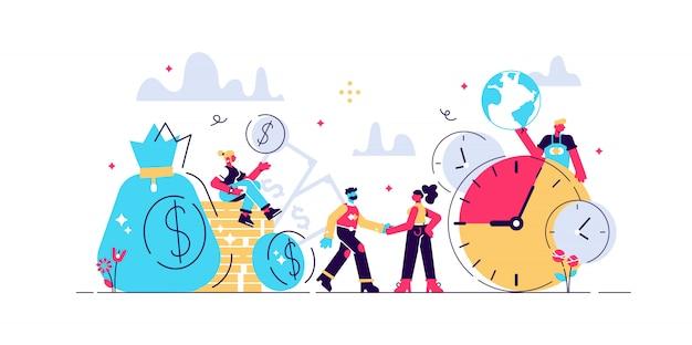 Koncepcja oszczędza czas, oszczędność pieniędzy. czasy to pieniądz. biznes i zarządzanie, skarbonka, czas to pieniądz, inwestycje finansowe w przyszły wzrost przychodów na giełdzie, planowanie zarządzania czasem, termin.