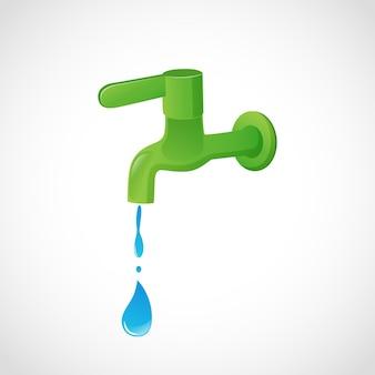 Koncepcja oszczędzaj wodę ratuj życieilustracja wektorowa