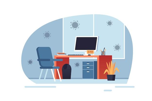 Koncepcja pandemii puste biuro