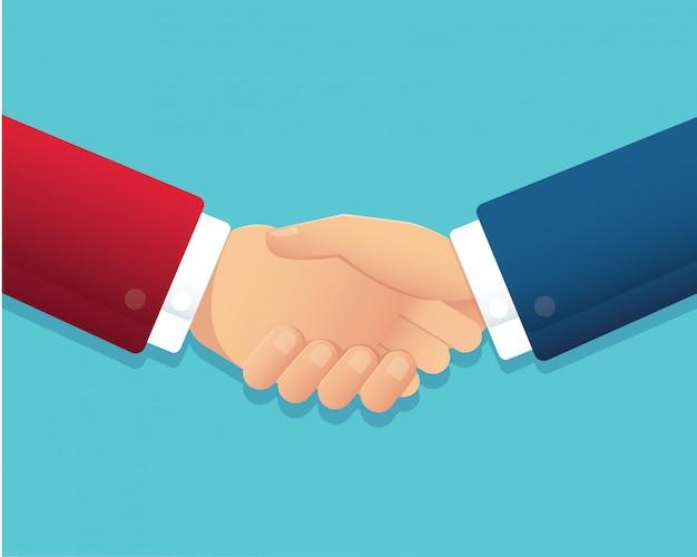 Koncepcja partnerstwa uścisk dłoni biznesmen