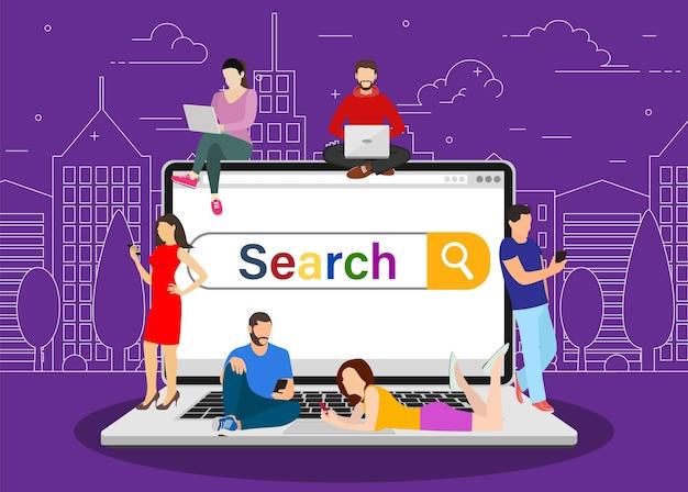 Koncepcja paska wyszukiwania online