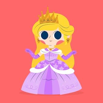 Koncepcja piękna księżniczka kopciuszek