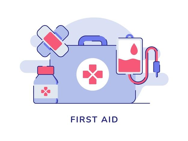 Koncepcja pierwszej pomocy na białym tle