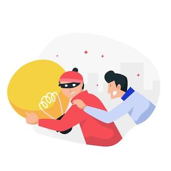 Koncepcja plagiatu z pomysłami kradzieży złodzieja