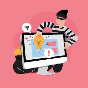 Koncepcja plagiatu ze złodziejem
