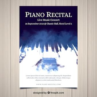 Koncepcja plakat muzyka fortepianowa